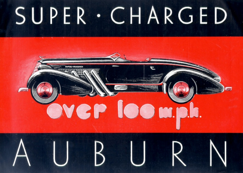 Supercharged Auburn Speedster